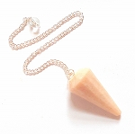 Peach Moonstone Faceted Pendulum
